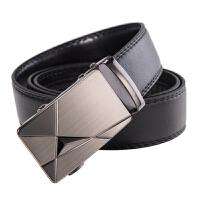 黑色皮带男商务休闲春夏纤皮耐用自动扣腰带