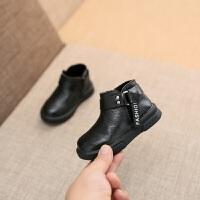 儿童经典马丁靴中筒棉靴2018冬款韩版男童大棉雪地靴学步鞋