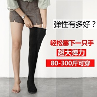 长靴女过膝秋冬新款大筒围胖腿粗显瘦弹力长筒靴子大码女靴41-43SN0725