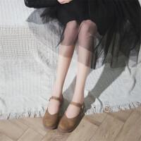圆头单鞋女平底文艺复古休闲鞋女2018新款韩版懒人鞋学生玛丽珍鞋