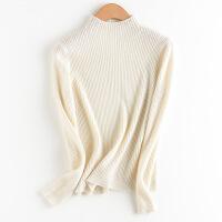 新年优惠【NEW】秋冬新款半高领羊绒衫女短款套头修身百搭纯山羊绒打底衫毛衣