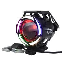 电瓶车摩托车改装配件超亮led强光u7爆闪彩灯激光炮外置前大灯泡