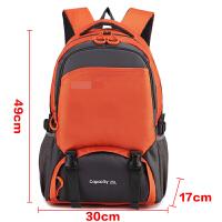 休闲旅行包男士双肩包大容量韩版中学生女书包轻便运动包潮背包男s6 橙色
