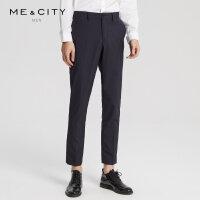 【1件2折到手价:99.8】MECITY男装羊毛天丝竖条纹商务休闲西裤