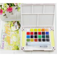 日本樱花全透明固体水彩颜料 泰伦斯18色24色固体水彩 写生水彩颜料