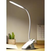 【支持礼品卡】护眼书桌夹子式学生LED可充电插电宿舍两用USB台风卧室床头小台灯 6pf