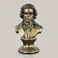 创意家居人物雕像摆件古典欧式音乐家贝多芬雕塑头像书房书柜玄关音乐厅艺术品