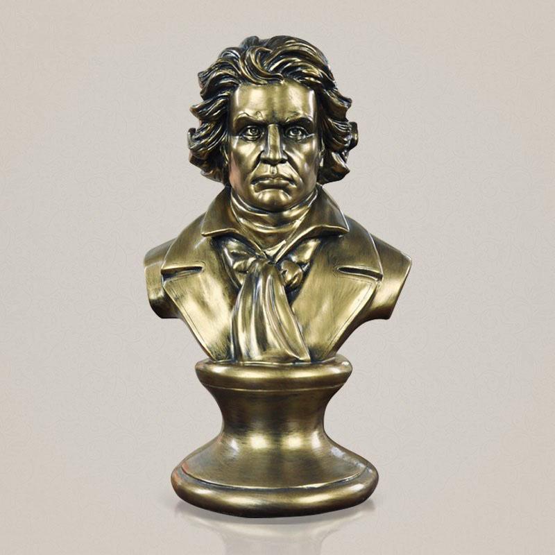 创意家居人物雕像摆件古典欧式音乐家贝多芬雕塑头像书房书柜玄关音乐厅艺术品 发货周期:一般在付款后2-90天左右发货,具体发货时间请以与客服协商的时间为准