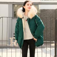 2018冬季新款女装短款ins外套棉袄中长韩版百搭面羽绒