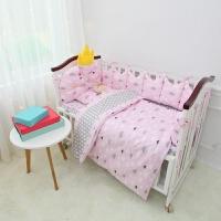 床围定制纯棉婴儿床品套件婴儿床围防撞围皇冠造型新生儿床上用品