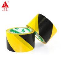 环美6.0cm警示胶带 场所标识地板胶带 斑马胶带 黑黄色6公分pvc隔离胶带 警示胶