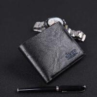 新款钱包男士短款大容量钱夹钱包复古商务短款包包英伦风多卡位皮包多功能手提包