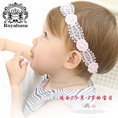 皇家莎莎儿童宝宝发带韩国公主甜美女童发饰布艺简约头带花朵头饰
