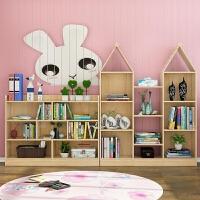 实木儿童书架简易家用置物架幼儿园落地书柜宝宝多功能绘本收纳架