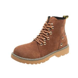 WARORWAR新品YM82-T391冬季韩版平底鞋舒适女士靴子切马丁靴短靴