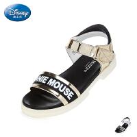 迪士尼Disney童鞋18夏季女童凉鞋中童金属色儿童公主鞋 (7-11岁可选) S73035
