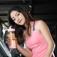 健身杯带吸管的杯子塑料便携户外水杯800ml运动水壶大容量