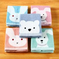 日本爱尚佳品吸水毛巾纯棉2条儿童毛巾洗脸擦手巾方巾R1008