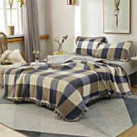 水晶绒床盖三件套遮盖加厚保暖两用金丝绒卡通水洗棉铺床床盖单件