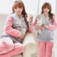 月子服冬季产后哺乳睡衣冬天加厚保暖孕妇秋冬怀孕期厚款套装
