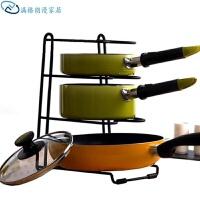 厨房置物架多用收纳架 锅盖架 砧板架锅架厨房挂件 黑色