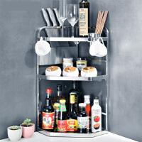 厨房置物架304不锈钢厨房置物架调料调味架多功能整理厨具用品收纳架 m7m