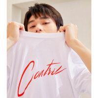 【1件2.5折到手价:49.8】MECITY男装夏季新款纯棉圆领时尚T恤短袖潮流打底