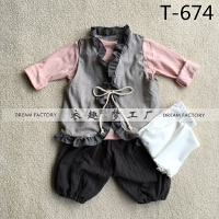 3-5岁左右新款女童拍照套装 影楼新款摄影服装批发 正版服装新款