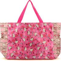 女生超大号Kitty猫购物袋卡通可爱手提包行李袋防水旅行袋单肩包 大