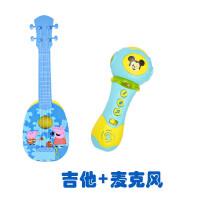 ?玩具尤克里里儿童小吉他可弹奏初学者男孩女孩? 19_吉他蓝色大号+声光麦克风 吉他颜色备注
