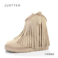 牛皮雪地靴5628新款冬季欧美流苏款女鞋雪地棉女靴棉鞋子SN0443