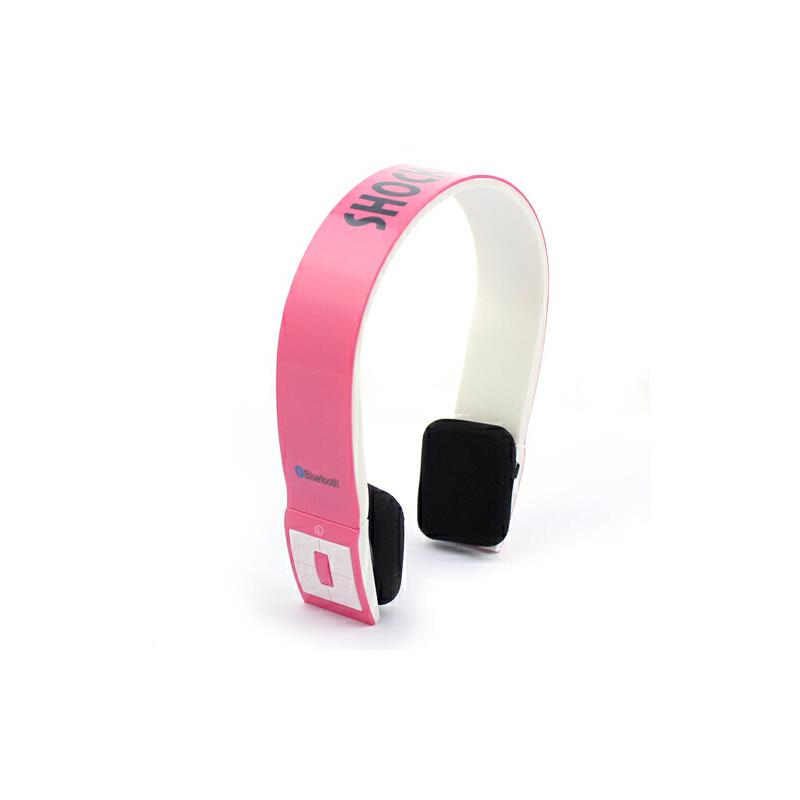 shockwave冲击波 SHB-901BH 蓝牙置麦可通话 有线无线双用耳机 亮粉色头戴式HiFi立体声内置麦可通话