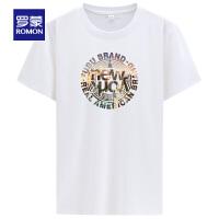 【补贴价:39】罗蒙男士短袖T恤(95%棉5%氨纶)