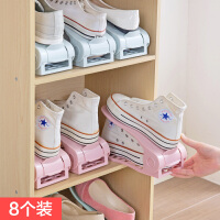 可调节双层鞋架塑料简易鞋托架置物架家用省空间一体式鞋子收纳架