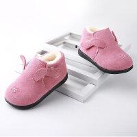 冬季新款男宝宝学步鞋保暖冬鞋女童短靴子1-2-3-5岁儿童二棉鞋子