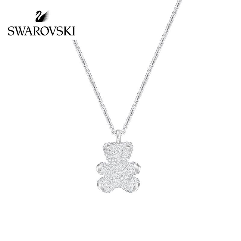 SWAROVSKI/施华洛世奇 Teddy 3D小熊女锁骨链项链 5345684正品保障(可使用礼品卡)