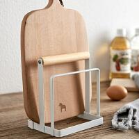 菜板架 日式菜板架砧板架铁艺案板架厨房用品家用加厚锅盖架收纳架置物架