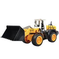 儿童电动玩具车男孩遥控车推土机大铲车挖机充电工程车