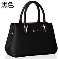 真皮女包软皮大容量手提包大气斜挎包潮时尚中年妈妈包包2018新款SN2622 黑色 还剩6个