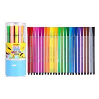 得力(deli) 7067 绚丽多彩可洗水彩笔/绘画笔 24色/筒 包装颜色随机 当当自营
