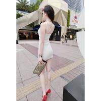 韩版时尚吊带小礼服夏装连衣裙包臀紧身打底裙子性感夜店女装夏季 均码