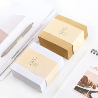 韩国文具创意牛皮纸方砖可撕便利贴N次贴留言纸便签记事本400张