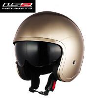 摩托车头盔男女电动机车太子哈雷半盔覆式复古个性四季夏季