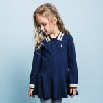 【3折价:88.83元】暇步士童装新款女童时尚裙式POLO衫