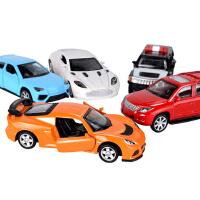 回力车汽车模型合金车模型套装儿童玩具车男孩警车汽车玩具