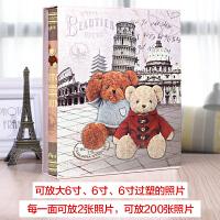 影集6寸相册本插页式家庭简约创意宝宝成长纪念册情侣大容量相册 旅行小熊 2
