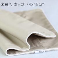 纯棉枕芯套内胆套荞麦枕皮贡缎枕套单人拉链枕套茶叶儿童全棉枕套 米白色一个 74x48cm