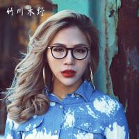 竹川木野 复古眼镜框男女潮款 近视圆形圆框全框眼睛架Z1605