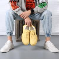 小白鞋男休闲鞋板鞋2019春季新品男士时尚透气运动鞋子韩版厚底男鞋百搭单鞋潮英伦0106JLF