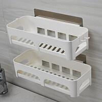 厨房收纳架壁挂储物架免打孔浴室洗漱台置物架墙上卫生间用品用具